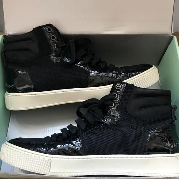 22b7b1e1346 Yves Saint Laurent Shoes | Saint Laurent Black Hightop Sneaker Size ...